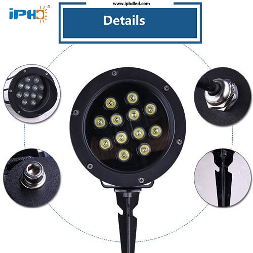12w exterior garage lights