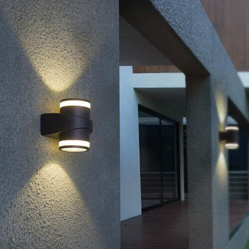 led cylinder wall sconce