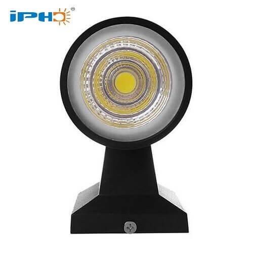 black round wall light