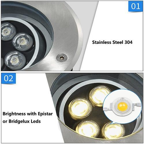 waterproof adjustable led ground lights