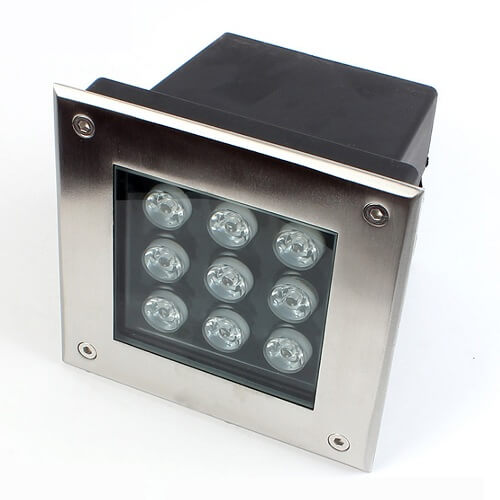square outdoor ground lamps