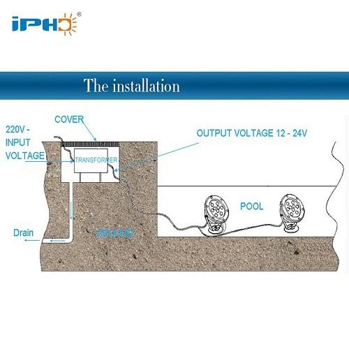 led underwater spot light instruction