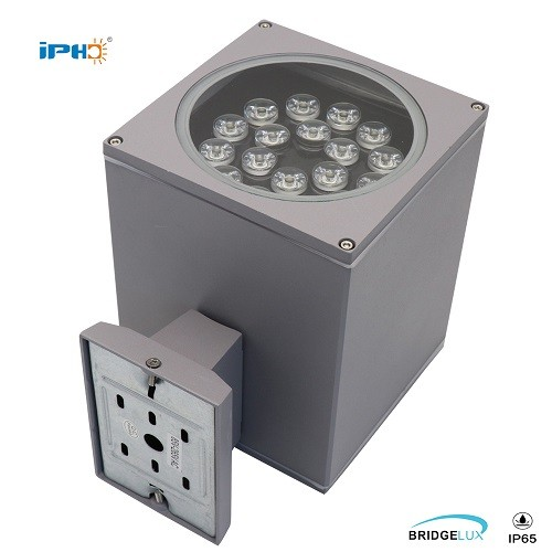 18w square outdoor wall light